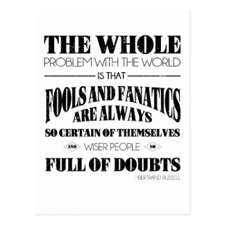 Fools and Fanatics Postcard