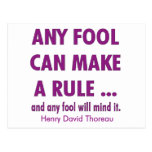 Fools and Rules Post Card