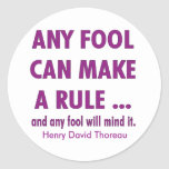Fools and Rules Stickers