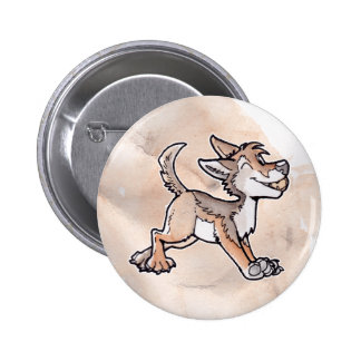 Fool's Gold Coyote 6 Cm Round Badge