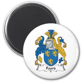 Foord Family Crest 6 Cm Round Magnet