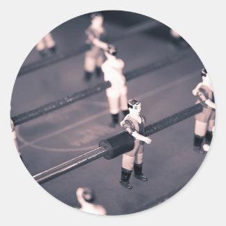 Foosball Classic Round Sticker