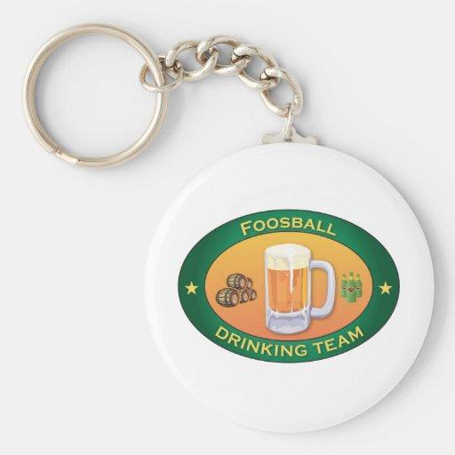 Foosball Drinking Team Basic Round Button Key Ring