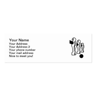 Foosball game business card