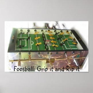 Foosball Grip Poster
