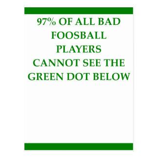 FOOSBALL POSTCARD