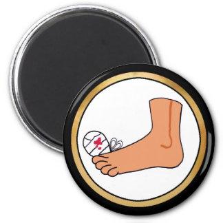 Foot-2 Broken Toe 6 Cm Round Magnet