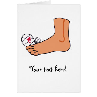 Foot-2 Broken Toe Card