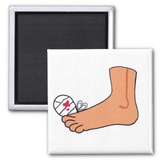 Foot-2 Broken Toe Square Magnet