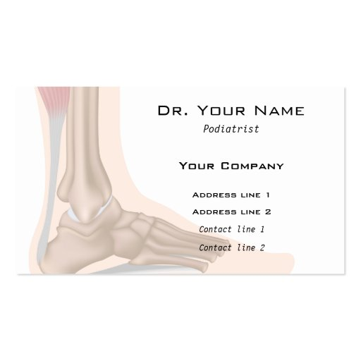 Foot anatomy Business Card