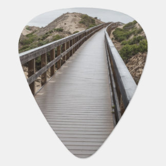 Foot Bridge at Oso Flaco Lake State Park Guitar Pick