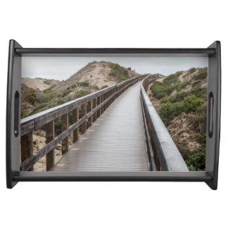 Foot Bridge at Oso Flaco Lake State Park Serving Tray