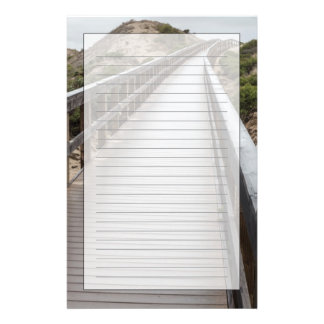 Foot Bridge at Oso Flaco Lake State Park Stationery Paper