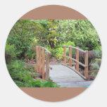 Foot Bridge in Landscape Round Sticker