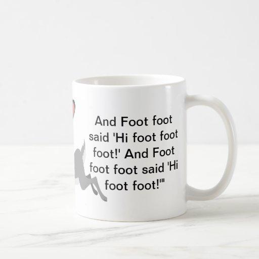 Foot foot coffee mug