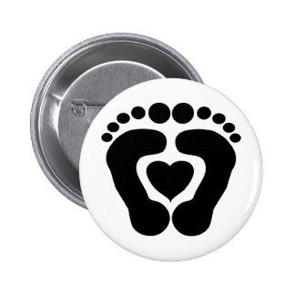 Foot Love 6 Cm Round Badge