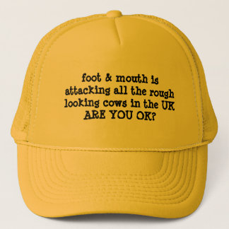 FOOT & MOUTH HUMOUR CAP