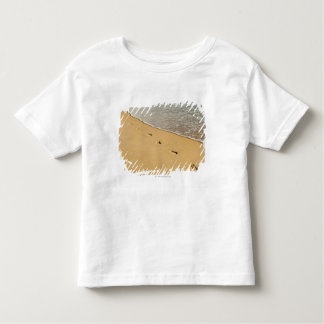 Foot prints in Sand with Wave Toddler T-Shirt