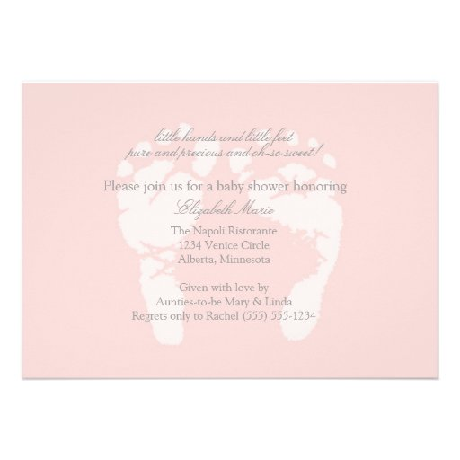 Foot Prints Invitation or Announcement