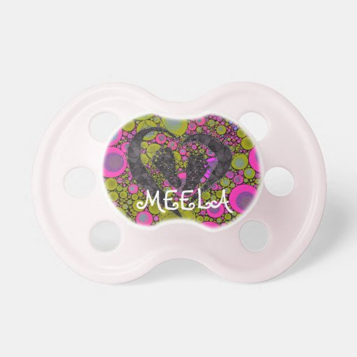Foot Prints wrapped with Love Pacifiers