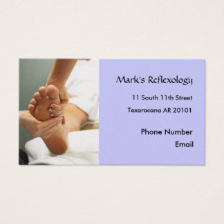 Foot Reflexology Photo business card