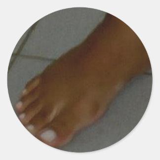 FOOT SLAVE CLASSIC ROUND STICKER