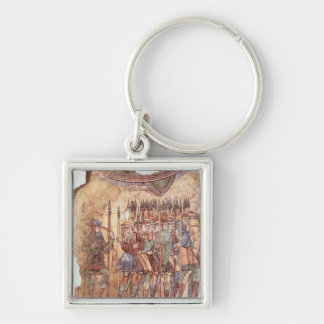 Foot Soldiers in the Crusades Keychains
