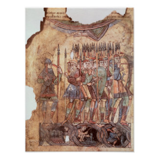 Foot Soldiers in the Crusades Poster