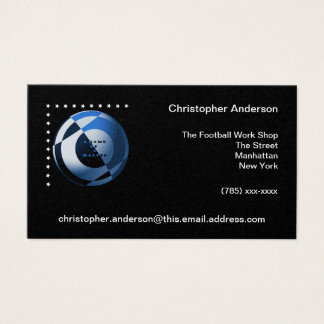 Football A Game of 2 Halves Blue Business Card