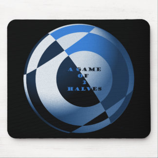 Football A Game of 2 Halves Blue Mouse Mat