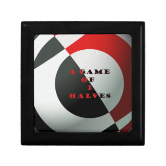 Football A Game of 2 Halves Red and Black Gift Box