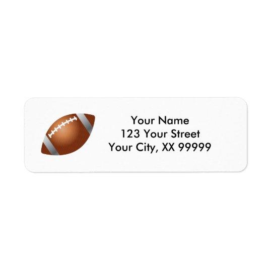Football Address Labels