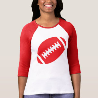 FOOTBALL ADULTS Red & White | Red Football Graphic Tee Shirt