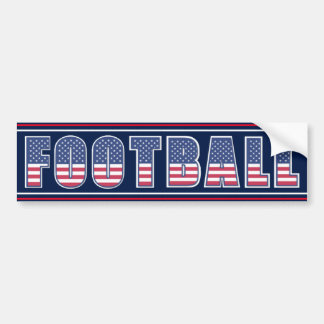 Football Americana Edition Bumper Sticker