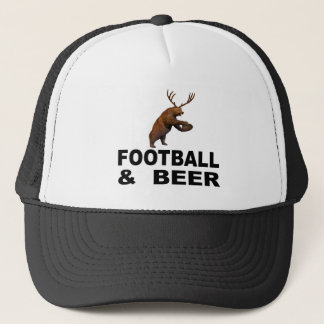 Football and Beer Trucker Hat