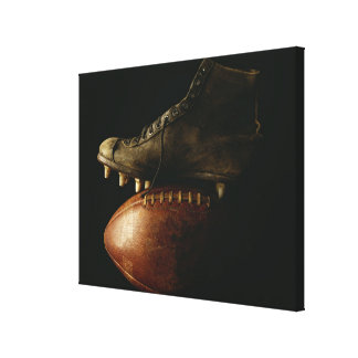 Football and Cleat Canvas Print