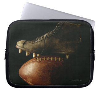 Football and Cleat Laptop Sleeve