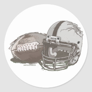 Football and Helmet by Mudge Studios Stickers