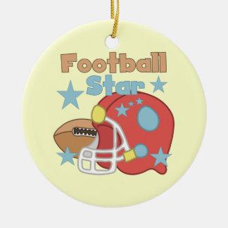 Football and Helmet Football Star T-shirts Christmas Ornament