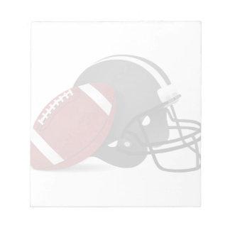 Football And Helmet Notepad