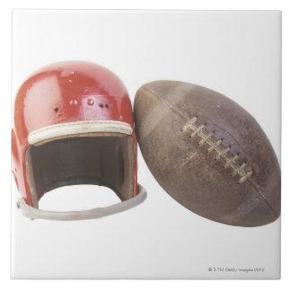 Football and helmet tile