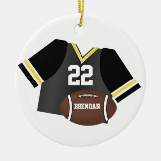 Football and Jersey Personalized Keepsake Ornament