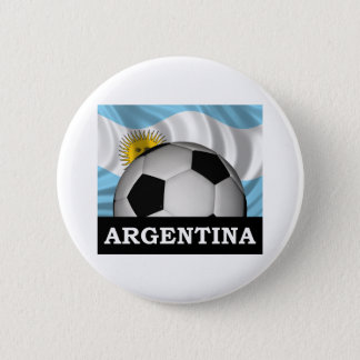 Football Argentina 6 Cm Round Badge