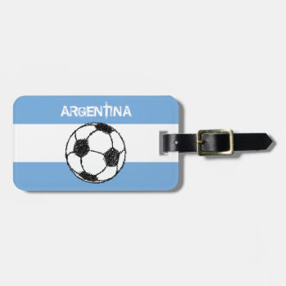 Football, Argentina Luggage Tag