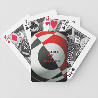 Football Art - A Game of 2 Halves Bicycle Playing Cards
