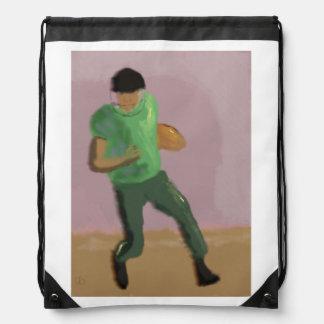Football Art Drawstring Bag