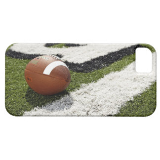 Football at goal line on football field, barely there iPhone 5 case