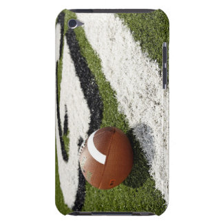 Football at goal line on football field, iPod Case-Mate case