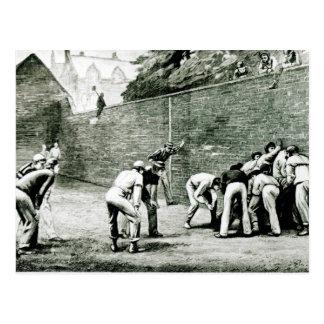 Football at the Wall at Eton Postcard