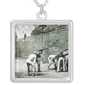 Football at the Wall at Eton Silver Plated Necklace